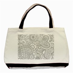 Ornament Vector Retro Basic Tote Bag (two Sides)