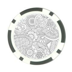 Ornament Vector Retro Poker Chip Card Guard