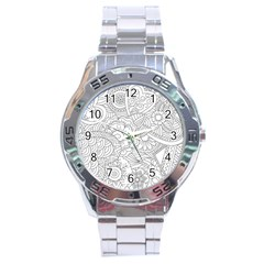 Ornament Vector Retro Stainless Steel Analogue Watch