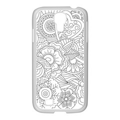Ornament Vector Retro Samsung Galaxy S4 I9500/ I9505 Case (white)