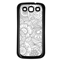 Ornament Vector Retro Samsung Galaxy S3 Back Case (black)