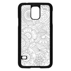 Ornament Vector Retro Samsung Galaxy S5 Case (black)
