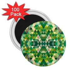 Forest Abstract Geometry Background 2 25  Magnets (100 Pack)
