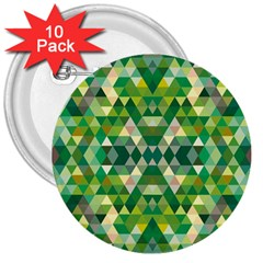 Forest Abstract Geometry Background 3  Buttons (10 Pack)