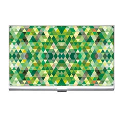 Forest Abstract Geometry Background Business Card Holders