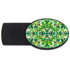 Forest Abstract Geometry Background Usb Flash Drive Oval (2 Gb)