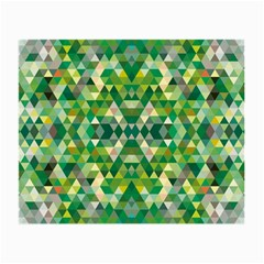 Forest Abstract Geometry Background Small Glasses Cloth