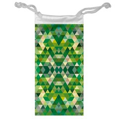 Forest Abstract Geometry Background Jewelry Bag