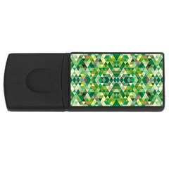 Forest Abstract Geometry Background Rectangular Usb Flash Drive