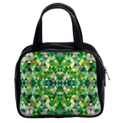 Forest Abstract Geometry Background Classic Handbags (2 Sides)