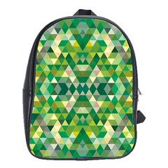 Forest Abstract Geometry Background School Bag (large)