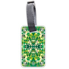 Forest Abstract Geometry Background Luggage Tags (one Side)