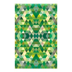 Forest Abstract Geometry Background Shower Curtain 48  X 72  (small)