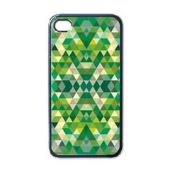 Forest Abstract Geometry Background Apple Iphone 4 Case (black)