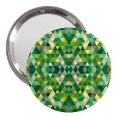 Forest Abstract Geometry Background 3  Handbag Mirrors