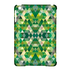 Forest Abstract Geometry Background Apple Ipad Mini Hardshell Case (compatible With Smart Cover)