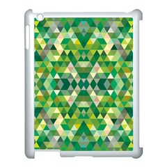 Forest Abstract Geometry Background Apple Ipad 3/4 Case (white) by Nexatart