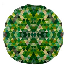 Forest Abstract Geometry Background Large 18  Premium Round Cushions