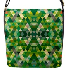 Forest Abstract Geometry Background Flap Messenger Bag (s)