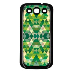 Forest Abstract Geometry Background Samsung Galaxy S3 Back Case (black)