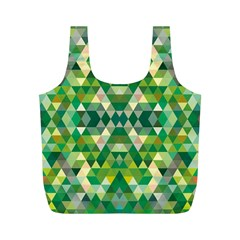 Forest Abstract Geometry Background Full Print Recycle Bags (m)