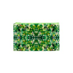 Forest Abstract Geometry Background Cosmetic Bag (xs)