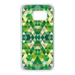 Forest Abstract Geometry Background Samsung Galaxy S7 White Seamless Case