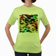 Background Wall Art Abstract Women s Green T Shirt