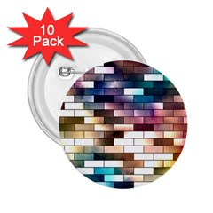 Background Wall Art Abstract 2 25  Buttons (10 Pack)