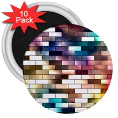 Background Wall Art Abstract 3  Magnets (10 Pack)  by Nexatart