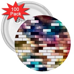 Background Wall Art Abstract 3  Buttons (100 Pack)