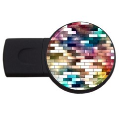 Background Wall Art Abstract Usb Flash Drive Round (2 Gb)