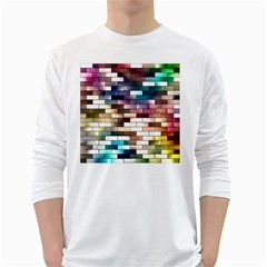Background Wall Art Abstract White Long Sleeve T Shirts