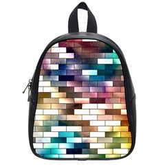 Background Wall Art Abstract School Bag (small)