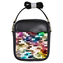 Background Wall Art Abstract Girls Sling Bags