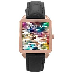 Background Wall Art Abstract Rose Gold Leather Watch