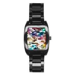 Background Wall Art Abstract Stainless Steel Barrel Watch