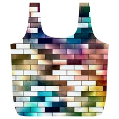 Background Wall Art Abstract Full Print Recycle Bags (l)