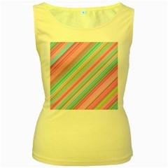 Background Texture Pattern Women s Yellow Tank Top