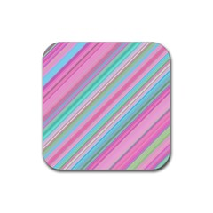 Background Texture Pattern Rubber Coaster (square)