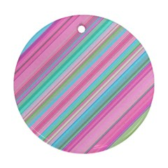 Background Texture Pattern Round Ornament (two Sides)