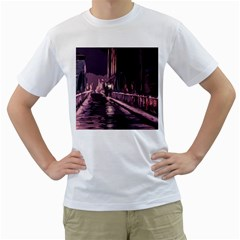 Texture Abstract Background City Men s T Shirt (white) (two Sided)