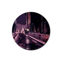 Texture Abstract Background City Rubber Round Coaster (4 Pack)  by Nexatart