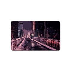 Texture Abstract Background City Magnet (name Card)