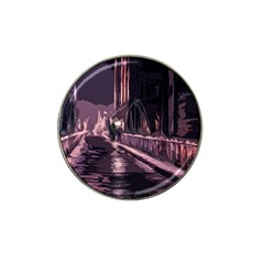 Texture Abstract Background City Hat Clip Ball Marker