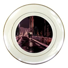 Texture Abstract Background City Porcelain Plates