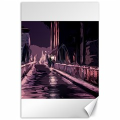 Texture Abstract Background City Canvas 24  X 36