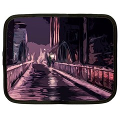 Texture Abstract Background City Netbook Case (large)