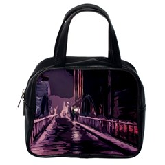 Texture Abstract Background City Classic Handbags (one Side)