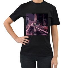 Texture Abstract Background City Women s T Shirt (black)